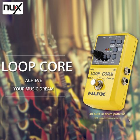 NUX-Loop-Core-Guitar-Effect-Pedal-True-Bypass-Design-Loop-Core-with-Aluminum-Alloy-Housing-Built