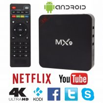 Tv Box Mx9 4k Android Quad Core Wifi Netflix Kodi